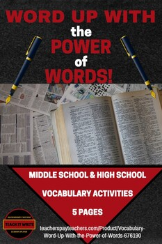 Vocabulary: Word Up With the Power of Words