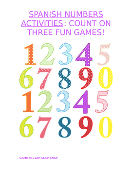 Activity for All Levels - Juegos con números: 3 Fun Numbers Games