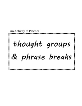 Activity for ESL speakers to practice phrasing