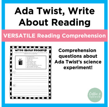 Ada Twist, Scientist | Write About Reading