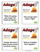 Adage Proveb  Activity, Find the Meaning of Adages