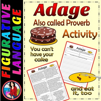 Adage or Proverb Writing Center Activity or Group Lesson C