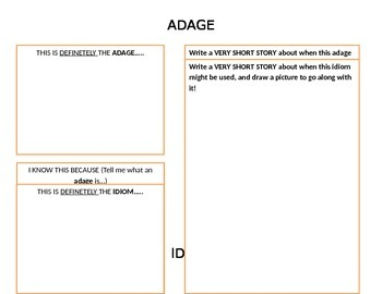 Adage vs. Idiom