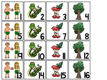 Adam and Eve Calendar pieces. Preschool-KDG Bible bulletin board.