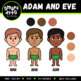 Adam and Eve Digital Clipart