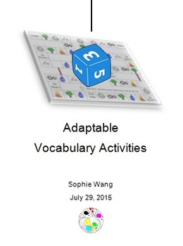 Adaptable Vocabulary Activities (2-5) - A Lab Task, 2 Game