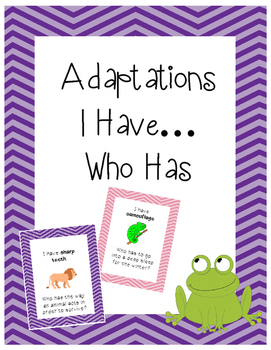Adaptations I Have Who Has? Game