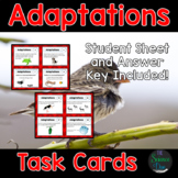 Adaptations and Natural Selection Task Cards