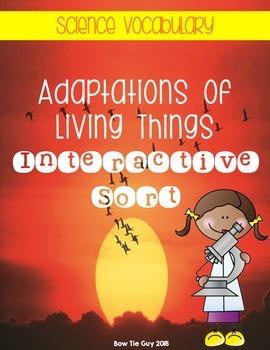 Adaptations of Living Things {Interactive Science Vocabula