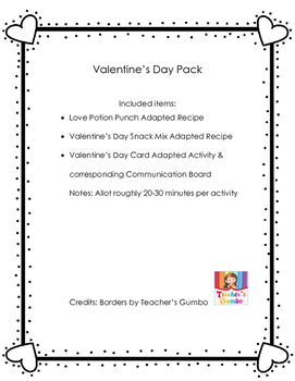 Adapted/AAC Valentine's Day Packet