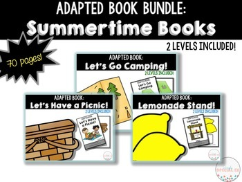 Adapted Book Bundle: Summertime Interactive Comprehension Books!