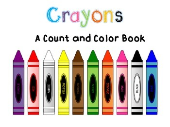 Adapted Book: Count and Color Crayons