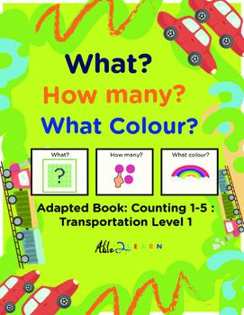 Adapted Book: Counting 1-5 & Speech Development: Transport