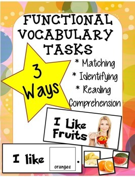 Adapted Book Functional Vocabulary- FRUITS