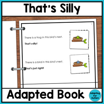 Adapted Book: Silly and Just Right Picture Discrimination