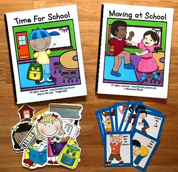 """Back to School Adapted Book--""""Time For School!"""""""