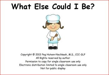 Interactive Book: What Else Could I Be? Another Book About Jobs