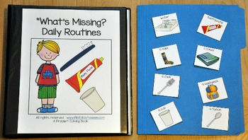 """Adapted Book--""""What's Missing? Daily Routines Edition"""""""