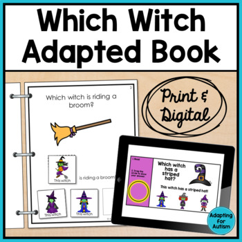 Adapted Book: Which Witch? (Autism & Special Education)