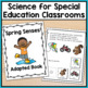 Spring Adapted Book: 5 Senses (Autism & Special Education)