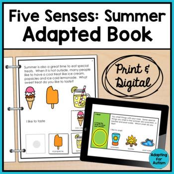 Adapted Book of the 5 Senses: Summer Season (Autism & Spec