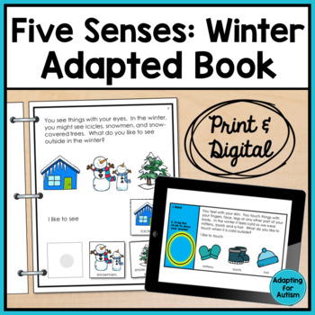 Winter Adapted Book: 5 Senses (Autism & Special Education)