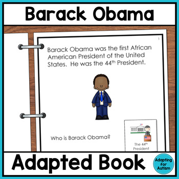 Barack Obama Adapted Book with Comprehension Check (Autism