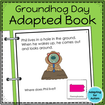 Groundhog Day Adapted Book with Comprehension Questions (S