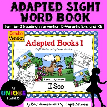 I SEE- Adapted Books (COMBO PACK)