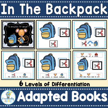 ADAPTED BOOKS- Back to School Bundle (PreK-2/Autism/SPED)