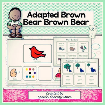 """Speech Therapy Adapted """"Brown Bear, Brown Bear"""" Language a"""