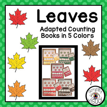 Leaves Adapted Counting Books in 5 Colors