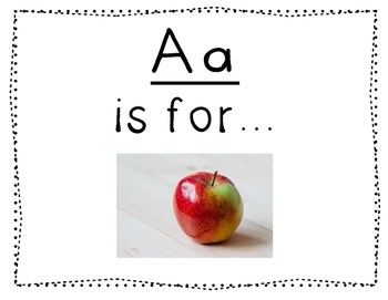 Adapted Letter A book