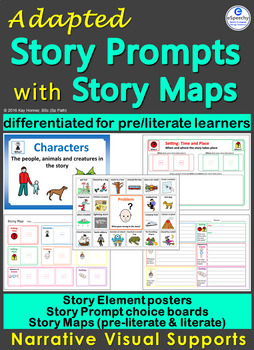 Adapted Story Map & Story Element Visuals: Creative Writin