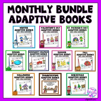 Adapted Books Wh Questions (Who and What) BUNDLE
