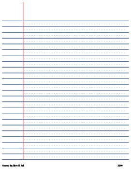 Wide Ruled Paper with dotted lines
