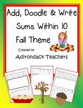 Add, Doodle, Write! Fall Theme