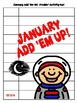 Add 'Em Up! Math Activity (January Edition)