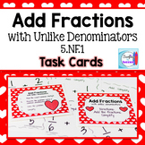 Add Fractions with Unlike Denominators Task Cards
