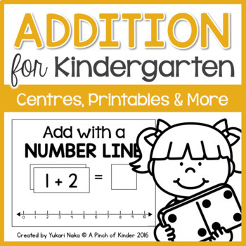 Addition for Kindergarten: Centres, Printables & More