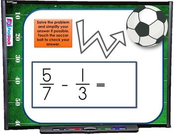 Add Subtract Fractions Different Denominators SMART BOARD