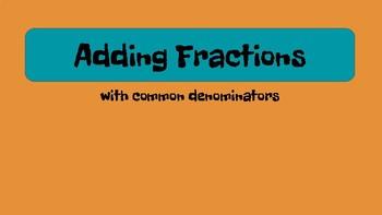 Add & Subtract Fractions - like denominators