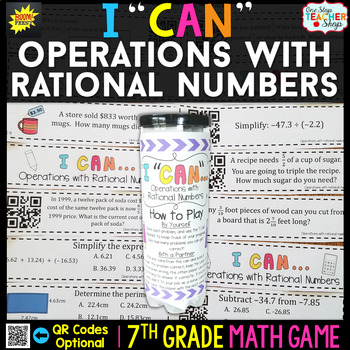 Add, Subtract, Multiply, Divide with Rational Numbers Seve