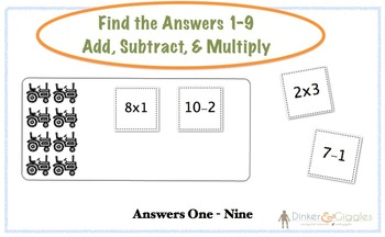 Add, Subtract, Multiply - File Folder Game
