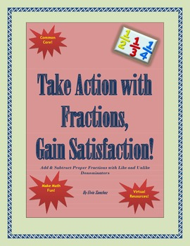 Add & Subtract Proper Fractions with Like and Unlike Denominators