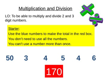 Add, Subtract, Times and Divide Integers Number Lesson