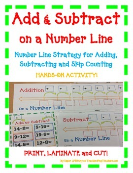 Add & Subtract on a Number Line- A Hands-On Activity