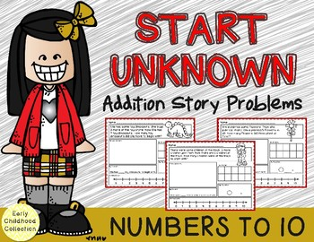 Add To: Start Unknown - Addition Story Problems {Numbers t