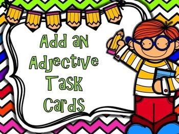 Add an Adjective Task Cards