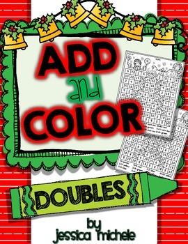 Add and Color Hidden Pictures {Christmas Doubles Facts}